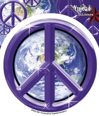 Purple Earth Peace Sticker