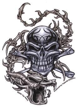 Skull  amp Dragon Stic...
