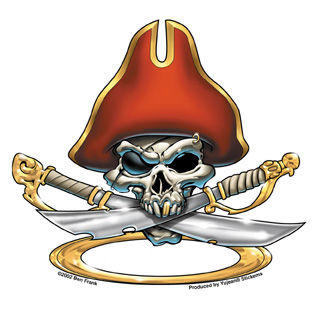 Skull Pirate Sticker