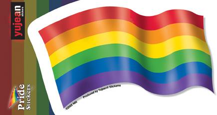 Pride Rainbow Flag Sticker