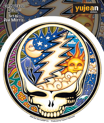 Grateful Dead Night/Day Steal Your Face Sticker