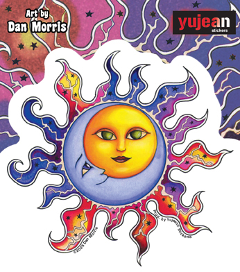 Dan Morris Sun-Moon Sticker