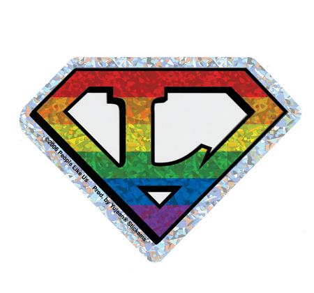 Diamond Cut Lesbian Pride Sticker