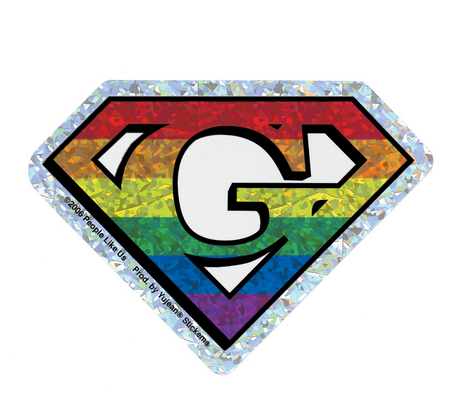 Diamond Cut Gay Pride Sticker