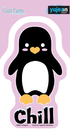 Chill Penguin Sticker