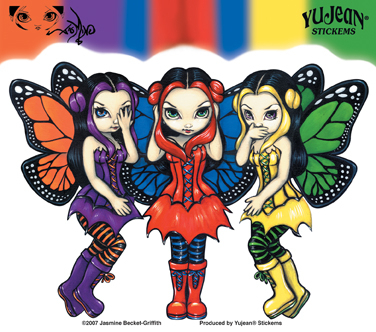 Three Wise Fairies Sticker