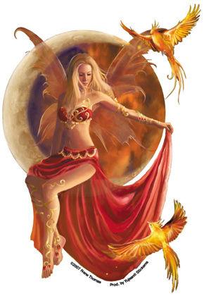 Nene's Fire Moon Fairy Sticker