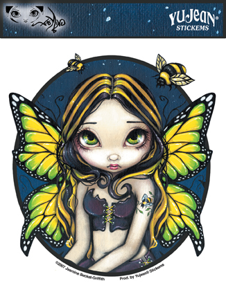 Bumble Bee Tattoo Fairy Sticker