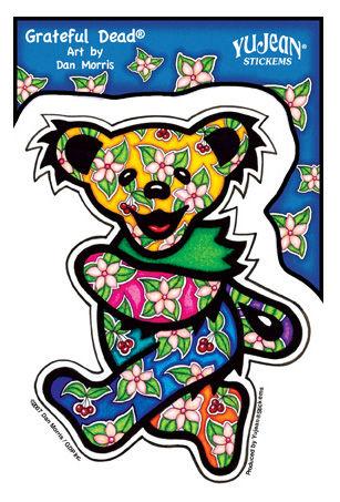 Tropical Grateful Dead Dancing Bear Sticker