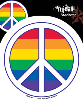 Pride Peace Sign Sticker
