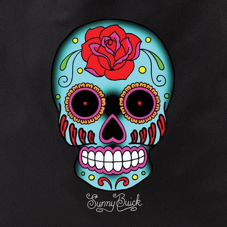 Sunny Buick Rose Sugar Skull Tote Bag | Latino