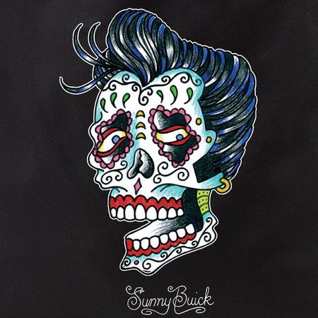 Sunny Buick Rocker Sugar Skull Tote Bag | Latino