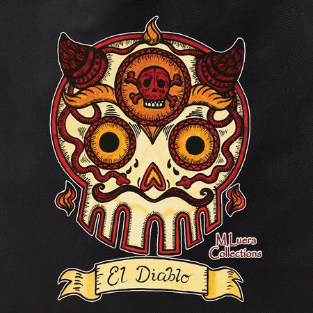 MLuera El Diablo sugar skull Tote Bag | Latino