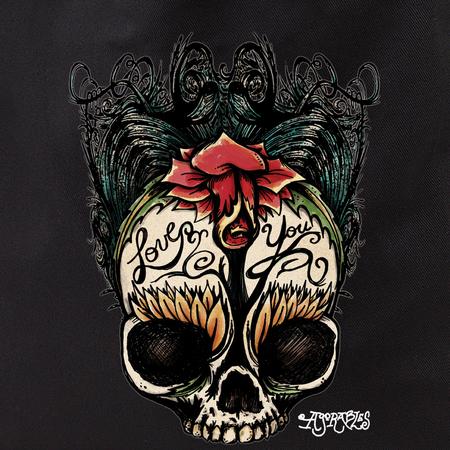 Agorables Love You Rose Sugar Skull Tote Bag | Latino