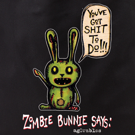 Agorables Zombie Bunny Tote Bag | Tote Bags