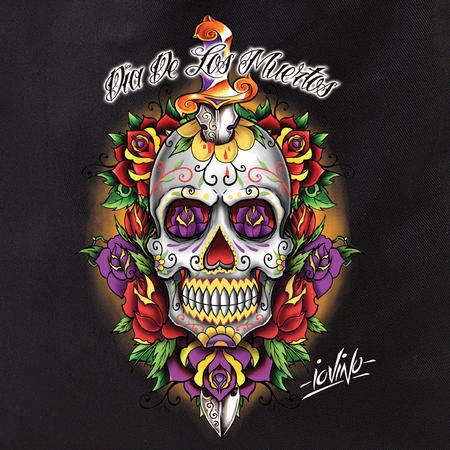 Iovino Tattoo Dia De Los Muertos Sugar Skull Tote Bag   Tote Bags
