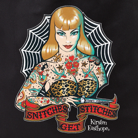 Kirsten Easthope Snitches Get Stitches Tattoo Tote Bag | Pinups