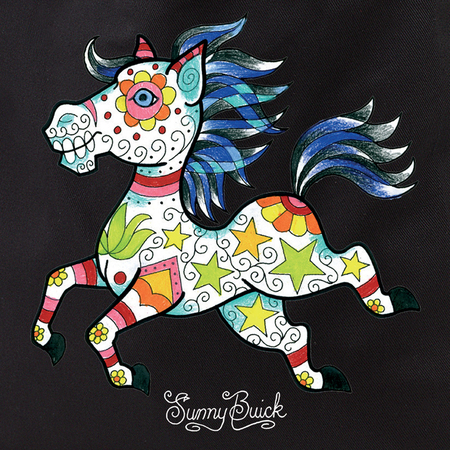 Sunny Buick Candy Horse Tote Bag | Tote Bags