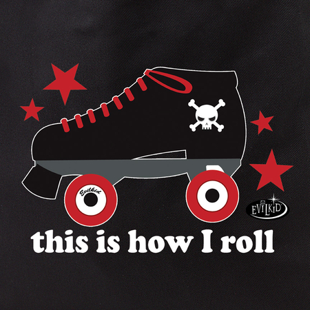 Evilkid How I Roll Roller Derby Tote Bag | Roller Derby