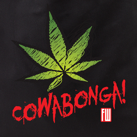 Frank Wiedemann Cowabonga Pot Leaf Tote Bag | Cannabis