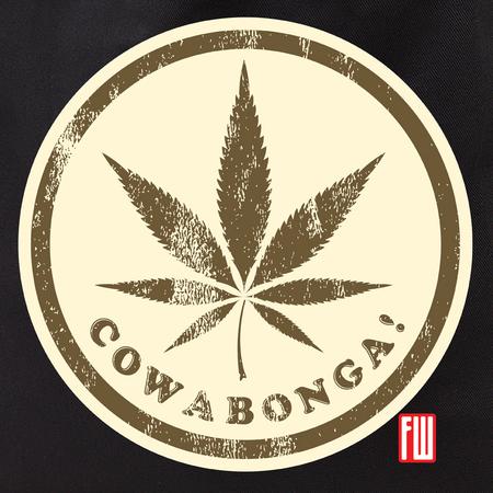 Frank Wiedemann Cowabonga 2 Pot Leaf Tote Bag | Cannabis