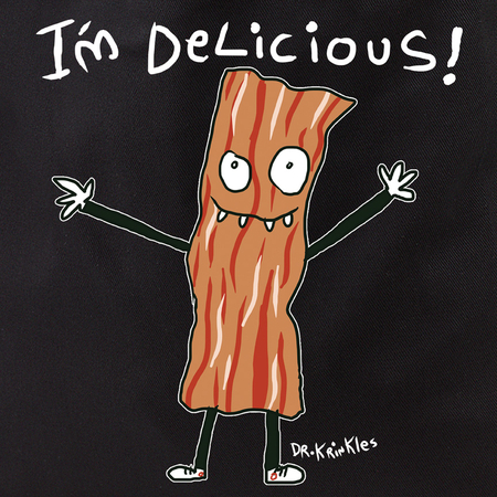 Dr Krinkles I am Delicious Bacon Tote Bag | Skool Daze