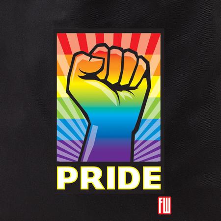 Frank Wiedemann Pride Fist Tote Bag | Tote Bags