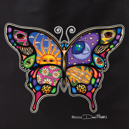 Dan Morris Day/Night Butterfly Tote Bag | Celestial