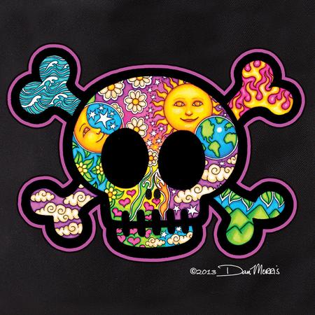 Dan Morris Cute Skull Tote Bag | Celestial