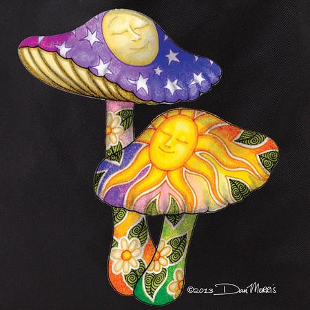 Dan Morris Mushrooms Tote Bag   Hippie