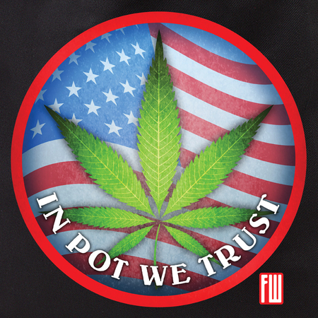 Frank Wiedemann in Pot We Trust Tote Bag | Cannabis