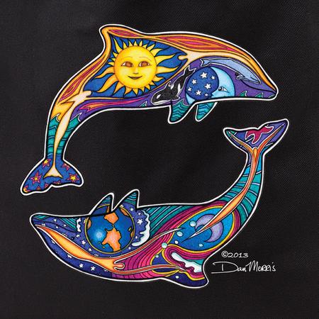 Dan Morris Dolphins Tote Bag | Tropical