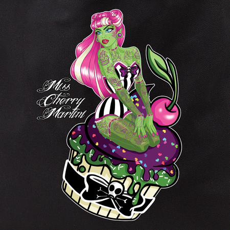 Miss Cherry Martini Cupcake Zombie Girl Tote Bag | Trend