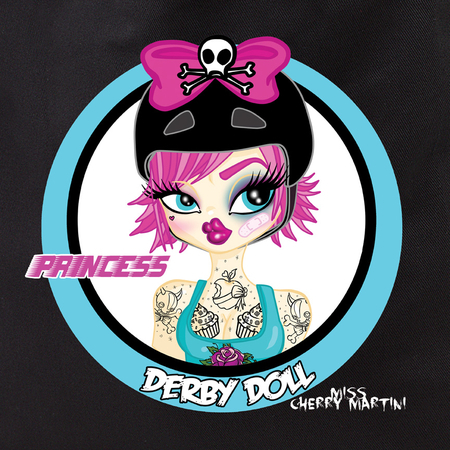 Miss Cherry Martini Princess Derby Girl Tote Bag | Pinups