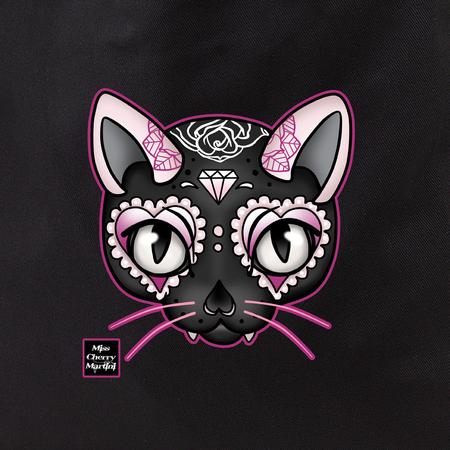 Cherry Martini pink cat tote | Tote Bags