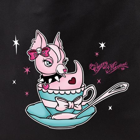Cherry Martini teacup chihuahua tote | Skool Daze