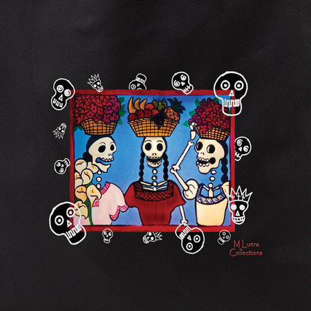 MLuera Three Day of the Dead Ladies Tote | Latino