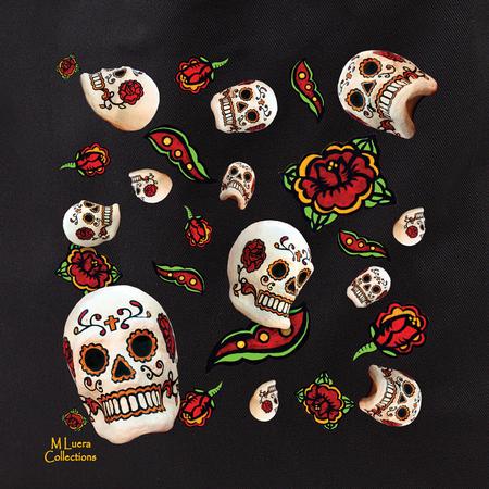 MLuera Sugar Skulls Tote Bag | Latino