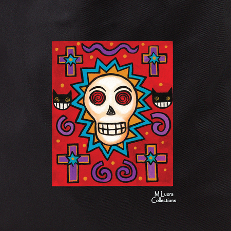 MLuera Skull, Crosses and Cats Tote Bag | Tote Bags