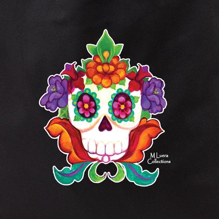 MLuera's Flowery Sugar Skull Tote Bag | Latino