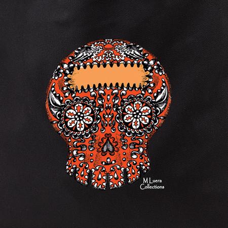 MLuera Orange Sugar Skull Tote Bag   Latino