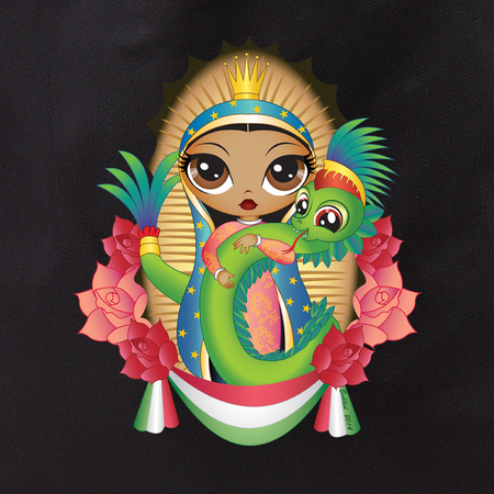 Evilkid quetzal guadalupe tote | Tropical
