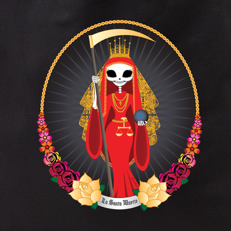 Evilkid Day of the Dead Santa Muerte Tote | Evilkid