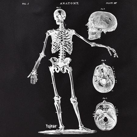 Skeleton with 3 Skulls Tote   Tote Bags