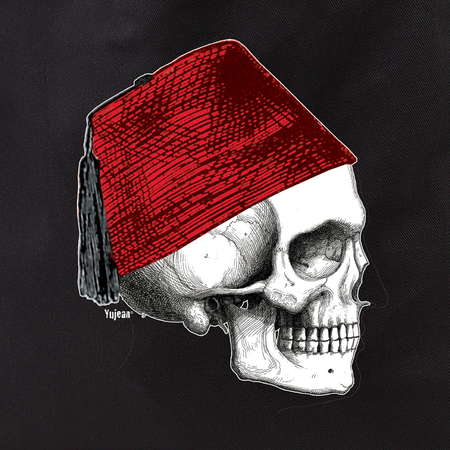 Fez Skull Profile Tote | Cabinet of Curiosities