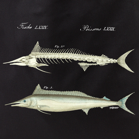 Curiosities Fish Skeleton Tote | Tote Bags