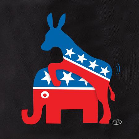 Evilkid Donkey & Elephant Tote | Pink #RESIST