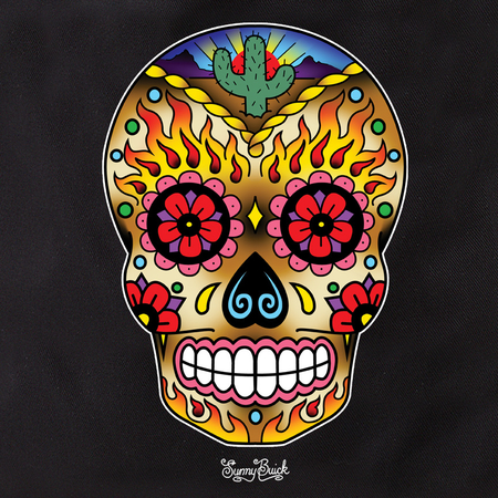 Sunny Buick Western Sugar Skull tote | Tote Bags