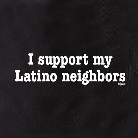 I Support Latino Neighbors Tote Bag | Pink #RESIST
