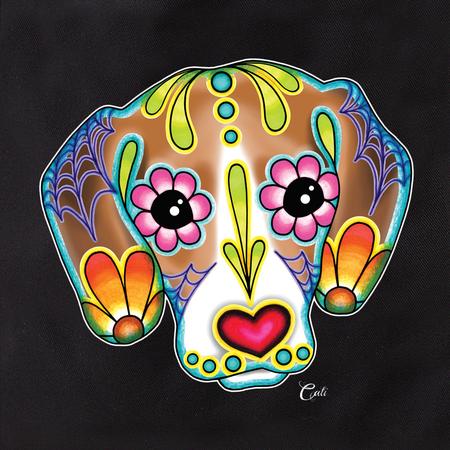 Cali  Beagle Tote | Sugar Skulls